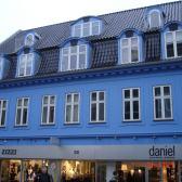 Pastato Roskilde mieste renovacijos darbai